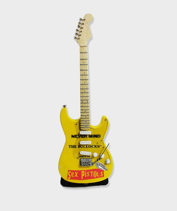 Sex Pistols Never Mind The Bollocks Guitare Miniature 01