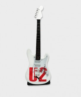 Guitare Miniature U2 blanc 01