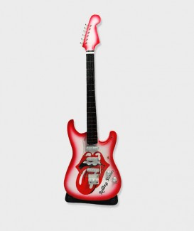 Guitare Miniature Bicolore Rolling Stones