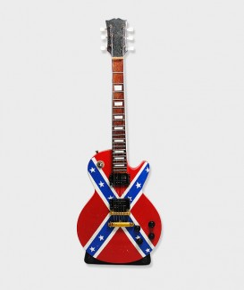 Guitare électrique, peint du drapeau confédéré américain