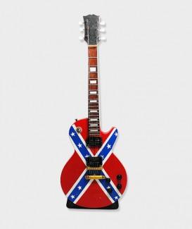 Peint du drapeau confédéré Guitare électrique.