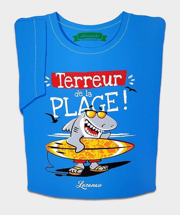 tee-shirt Shark Terreur Plage Lacanau