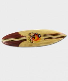 Planche de surf décorative en bois dur à suspendre GRAPHIQUE 02