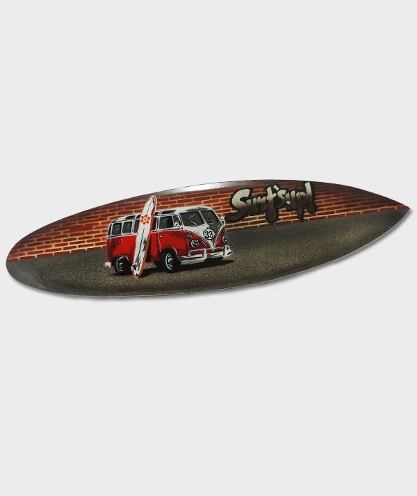 """Planche de surf décorative en bois dur à suspendre """"Surf  Sup 38 Combi"""""""