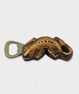 Ouvre Bouteille ou Décapsuleur Gecko bois brun