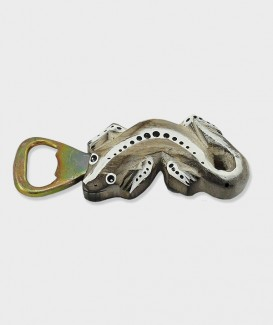 Ouvre Bouteille ou Décapsuleur Gecko bois crème
