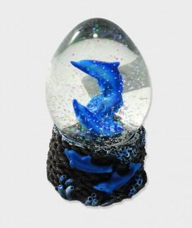 Boule A Neige Dauphin Bleu Déco lacanau Océan