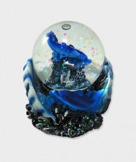 Dauphin Bleu Boule A Neige  Déco lacanau Océan
