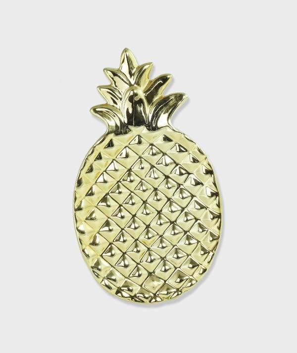 Vide-poches Ananas doré