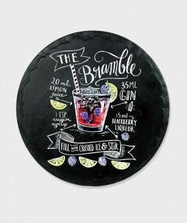 Repose plat rond Recette du Bramble Cocktail