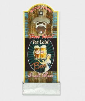 Décapsuleur Plateau Mural Ouvre-Bouteille Ice gold beer