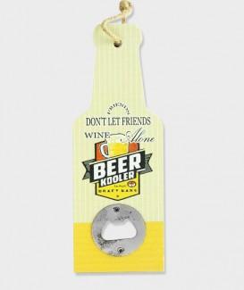 Décapsuleur mural humoristique en bois en forme de Bouteille de bière  beer