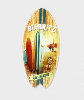 """Repose plat en Bois en Forme de Planche de SURF """"Biarritz"""""""