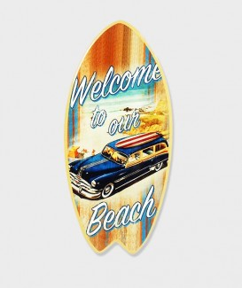 "Dessous de Plat forme de planche de surf  ""Welcom to our beach """