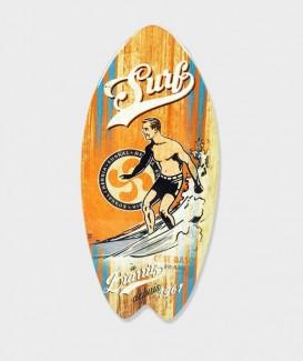 """Repose plat  en Bois en Forme de Planche de SURF """"Surf à Biarritz """""""