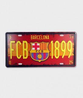 Plaque d'immatriculation FCB 1899 décorative