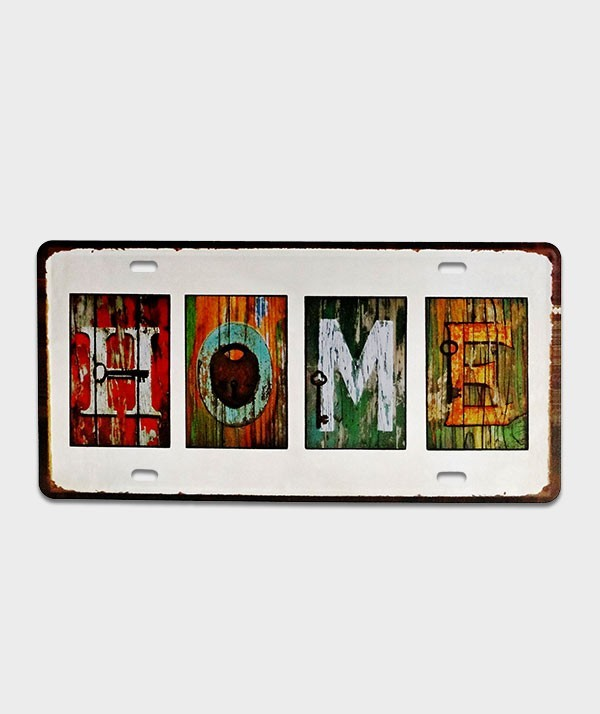 Plaque d'immatriculation US Home patchwork