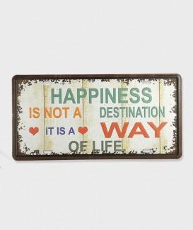 Plaque d'imma Happiness décorative