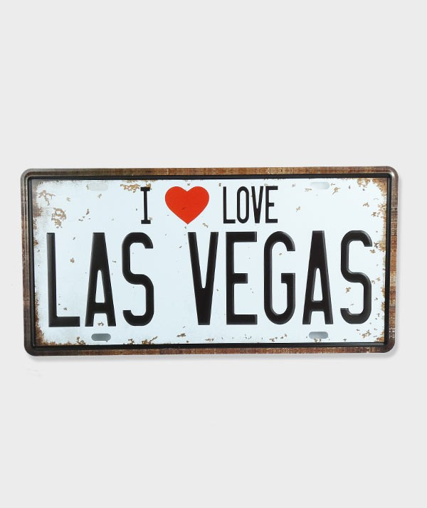 Plaque d'immatriculation  I Love Las Vegas