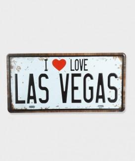 Plaque d'immatriculation  I Love Las Vegas2