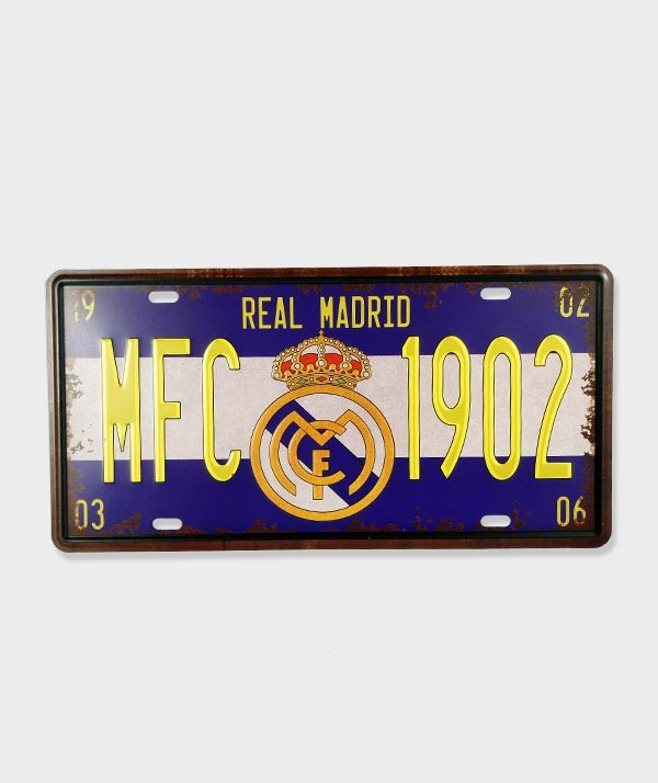 Plaque d'immatriculation décorative Real Madrid - MFC 1902 - 02