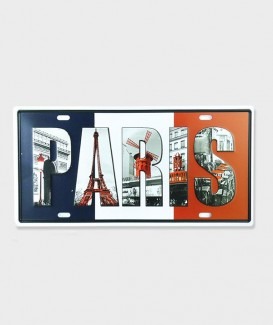 Plaque d'Immatriculation decorative Cartes Postales Anciennes de Paris 02
