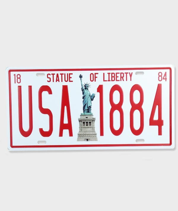 "Plaque d'Immatriculation décorative ""USA 1884"""