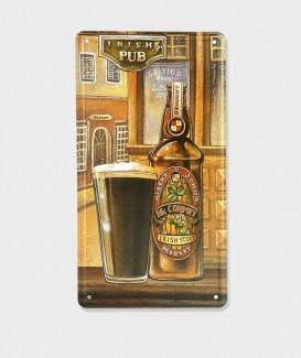 """Plaque Poster Mural Décorative Vintage en Métal  """"Irish Pub"""""""