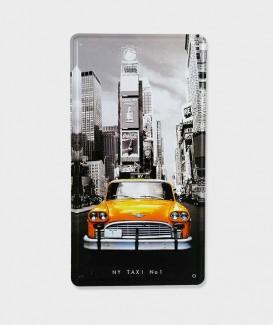"Plaque Poster Mural Décoratif Vintage en Métal  ""Taxi New-York"""