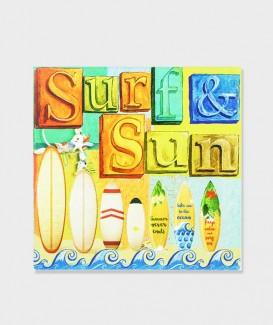 """Dessous de Plat ou Repose Plat Carrée  Surf & Sun """"Planche"""""""