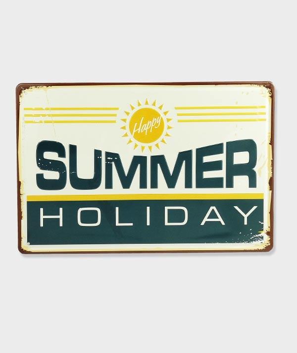 Plaque Metal vintage Summer Holiday
