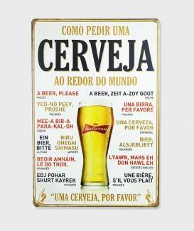 Plaque Metal vintage Bière Cerveja