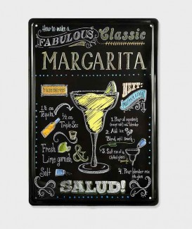 Plaque Metal vintage Margarita