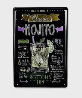 Plaque Métal Décorative Mojito