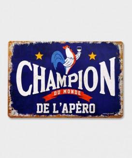 Cadre Métal  Vintage Décorative Champion de l'Apéro