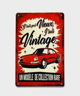 Cadre Métal  Vintage Décorative  Je ne Suis pas Vieux J'suis Vintage