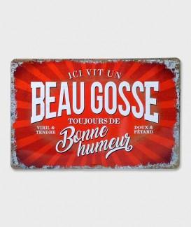 Plaque Métal Décorative vintage  Beau Gosse