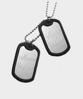 Pendentif militaire en Acier Chirurgical à Graver de Vos Photos et Textes MC 29 verso