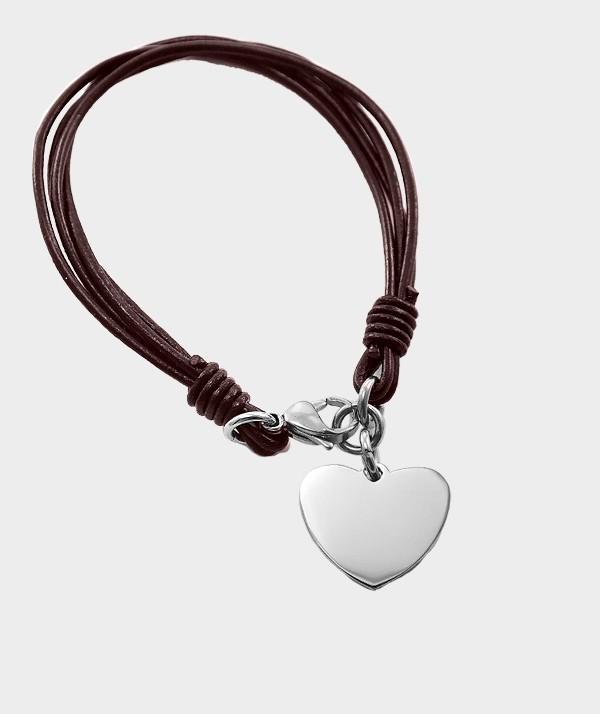 Bracelet Coeur en Acier Chirurgical à Graver de Vos Photos et Textes MC 31 noir