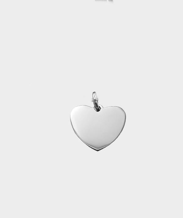Bracelet Coeur en Acier Chirurgical à Graver de Vos Photos et Textes MC 31 vierge