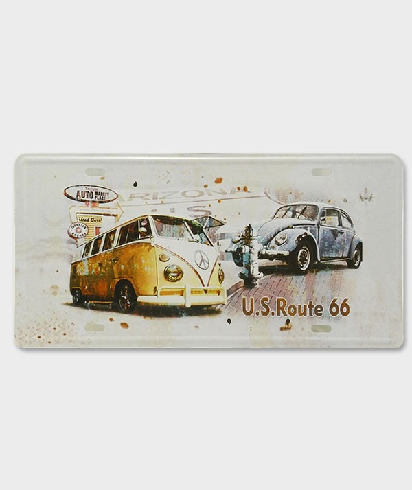 Plaque d'Immatriculation décorative Volkswagen US Route 66