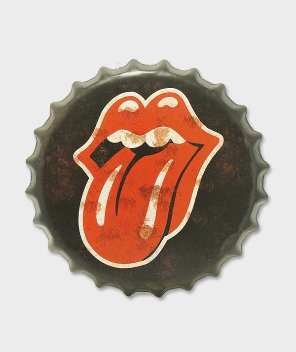 Capsule de bouteille Déco murale Langue des Rolling Stone