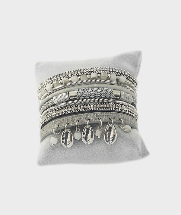 bracelet argenté vue1