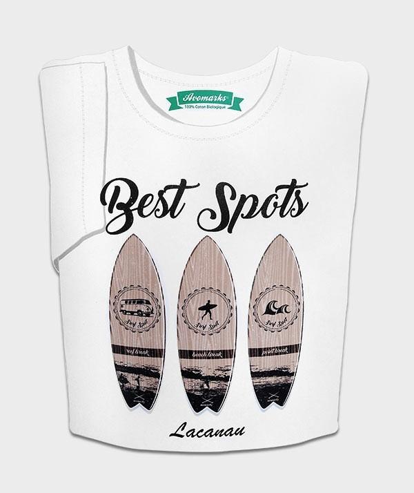 "T-SHIRT ""BEST SPOTS LACANAU"""