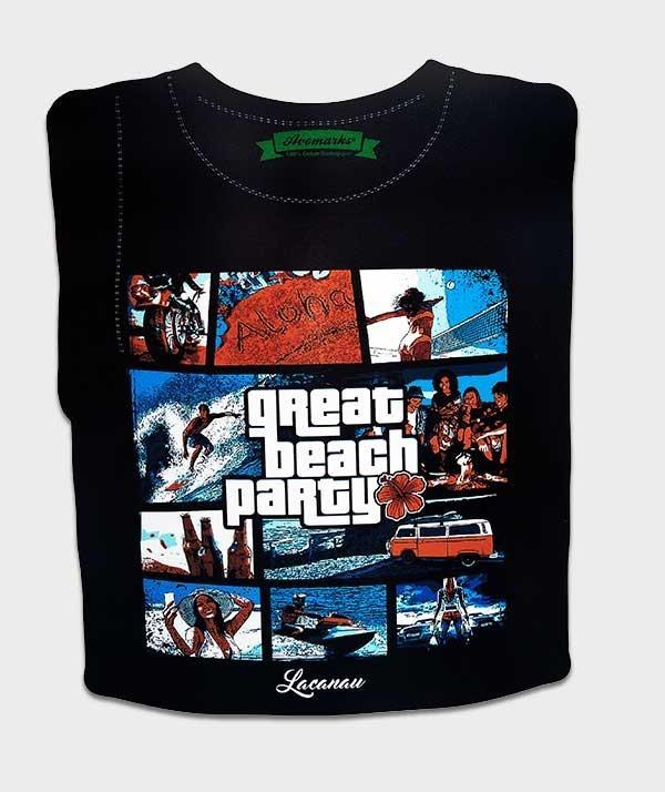 t-shirt great beah party