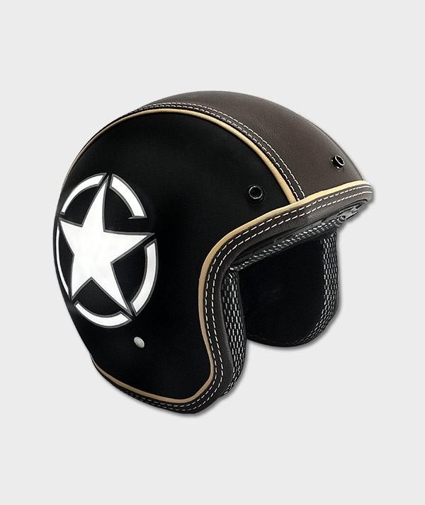 Casque Moto Vintage Star