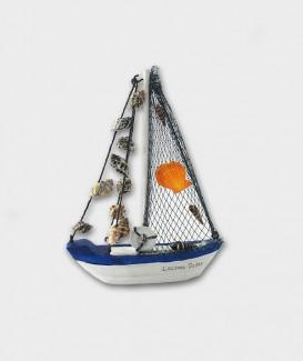 Bateau voile déco marine souvenir de Lacanau Océan