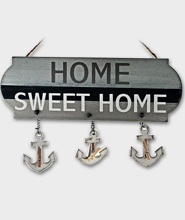 Porte photo pince-HOME SWEET HOME style marine déco