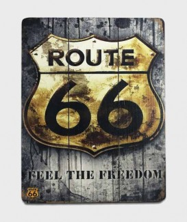Plaque bois Déco Vintage - Route 66