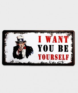 Plaque d'immatriculation US décor l want you